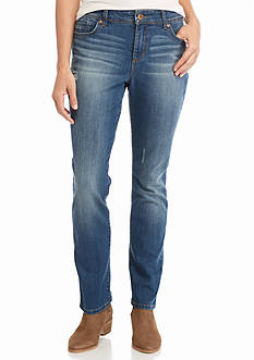 Bandolino Petite Juliana Rail Straight Jeans
