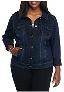 Bandolino Plus Size Knit Denim Jacket