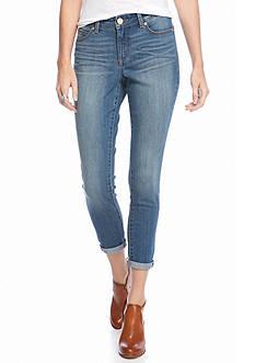 Bandolino Women's Petite Lisbeth Curvy Skinny Ankle Jeans