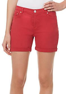 Bandolino Petite Karyn Twill Slim Boyfriend Shorts