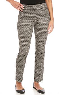Briggs Petite Jacquard Diamond Millennium Pants - Petite Short