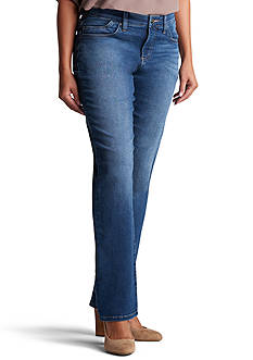 Petite Size Lee Platinum Lydia Barely Bootcut Jean