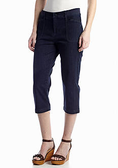 Lee&reg Platinum Relaxed Fit Knit Waistband Capri