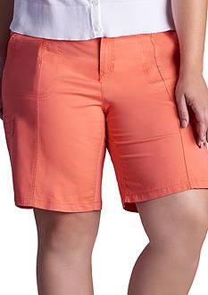 Lee Platinum Plus Size Delaney Cargo Bermuda Shorts