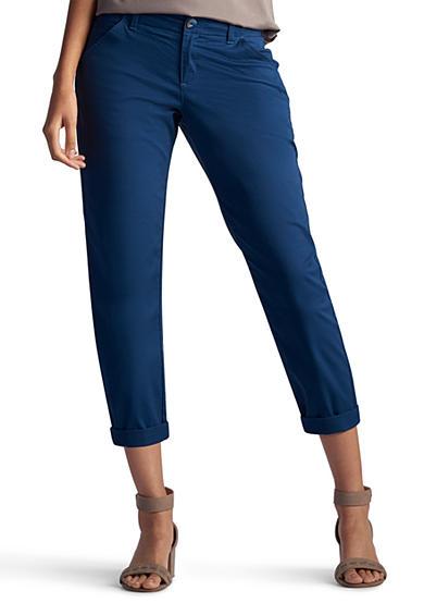 Lee Platinum Petite Size Essential Chino Capri Pants | Belk
