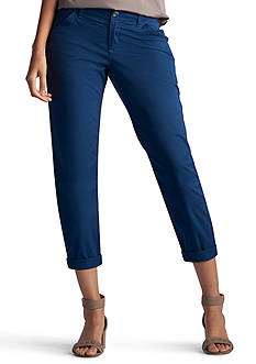 Lee® Platinum Petite Size Essential Chino Capri Pants