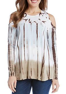 Karen Kane Cold Shoulder Tie Dye Top