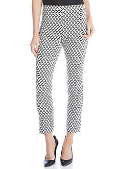 Karen Kane Diamond Print Crop Pants