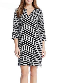 Karen Kane Diamond Print Shift Dress