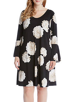 Karen Kane Plus Size Flare Sleeve Taylor Dress