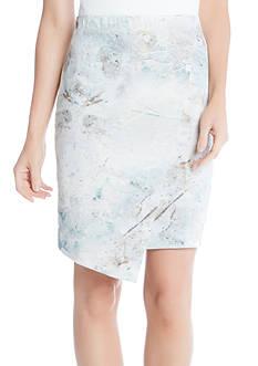 Karen Kane Print Angled Skirt