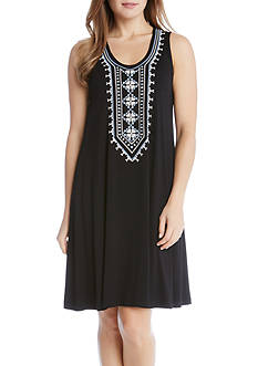 Karen Kane Embroidered Sleeveless Dress