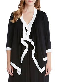 Karen Kane Plus Size Banded Drape Jacket