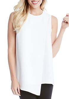 Karen Kane Asymmetric Sleeveless Top