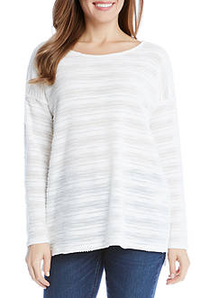 Karen Kane Textured Knit Hi Lo Top