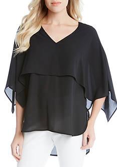 Karen Kane V-Neck Double Layer Top