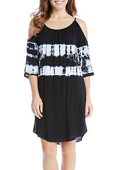 Karen Kane Tie Dye Cold Shoulder Dress