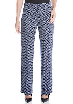 Karen Kane Cactus Print Wide-Leg Pants