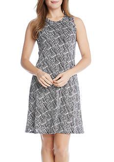 Karen Kane Crew Neck Halter Dress