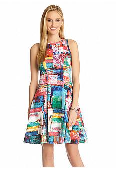 Karen Kane Full Spectrum Scuba Dress