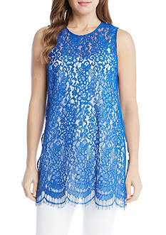 Karen Kane High Slit Lace Tank