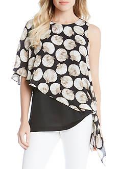 Karen Kane Seashell Side Tie Top