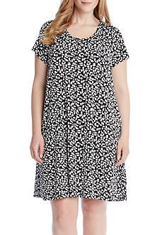 Karen Kane Plus Size Print Maggie Trapeze Dress