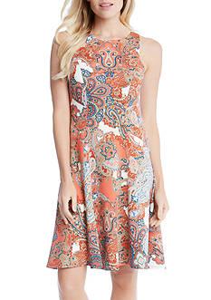 Karen Kane Paisley Print Flare Dress