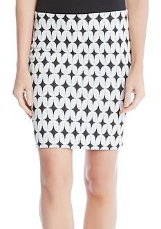 Karen Kane Jacquard Knit Skirt