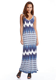 Karen Kane Mixed Chevron Alana Maxi Dress