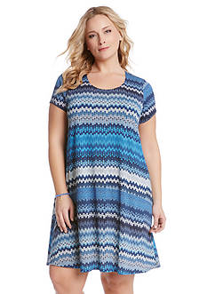 Karen Kane Plus Size Blue Mesa Maggie Trapeze Dress