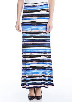 Karen Kane Painted Stripe Maxi Skirt