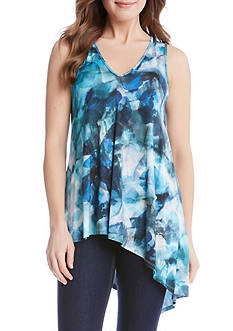 Karen Kane Sea Glass Asymmetric Top