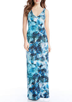 Karen Kane Sea Glass Maxi Dress