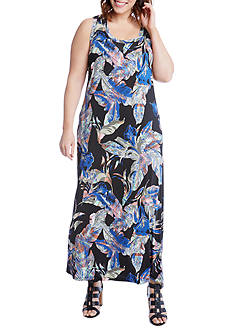 Karen Kane Plus Size Leaf Maxi Tank Dress