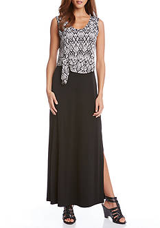 Karen Kane Tie Top Maxi Dress