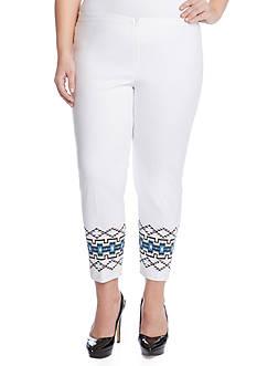 Karen Kane Plus Size Tribal Print Pant