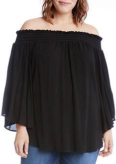 Karen Kane Plus Size Off-The-Shoulder Top