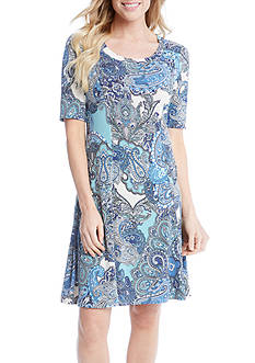 Karen Kane Pencil Sleeve A-Line Dress