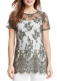 Karen Kane Embroidered Lace Tunic