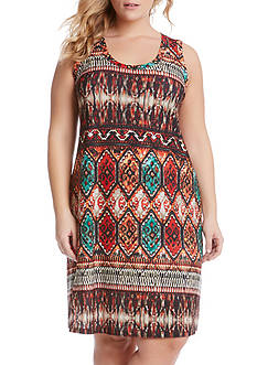Karen Kane Plus Size Border Print Dress