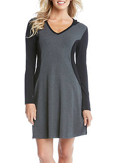 Karen Kane Contrast Panel Hoodie Dress