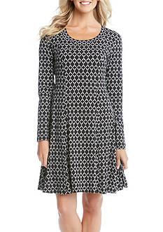 Karen Kane Rope Print A-Line Dress