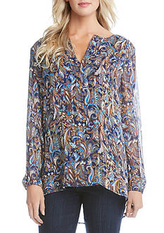 Karen Kane Split Placket Blouse