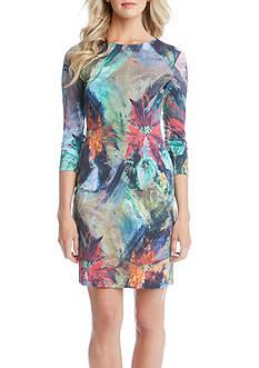 Karen Kane Floral Canvas Sheath Dress