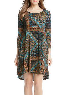 Karen Kane Tile Mosaic Maggie Trapeze Dress