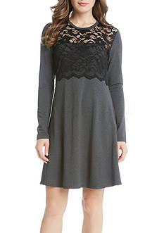 Karen Kane Lace Overlay Dress