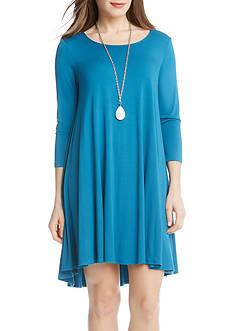 Karen Kane Baltic Blue Maggie Trapeze Dress
