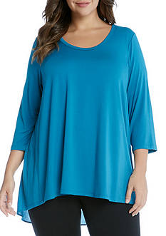 Karen Kane Plus Size Shirred Back Top