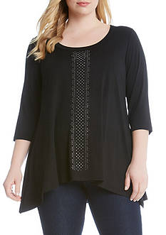 Karen Kane Plus Size Flocked Topper Jacket
